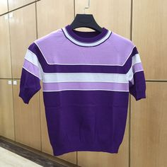 Italy Style Women Sweater and Pullover Half Sleeve Striped O-Neck Women Tops Spring Summer Clothing Camisola Ropa