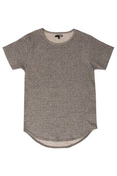 French Terry Curved Hem Tall Tee Grey