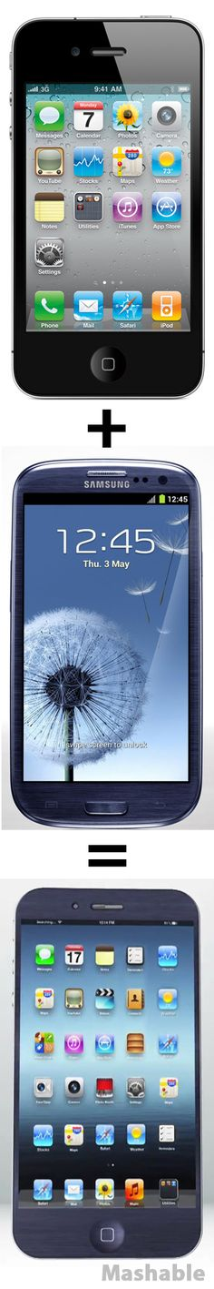iPhone 4S + Samsung Galaxy S III = iSung Galaxy V  //  SEE THE CONCEPT