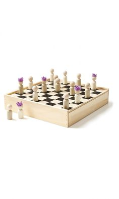 What a cute little chess set!