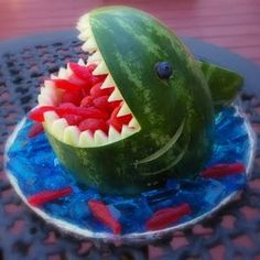 Shark Attack Party Snack | Edible Kids Craft tutorial