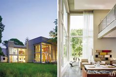 For his progressive Hamptons retreat, architect Lee F. Mindel of Shelton, Mindel & Assoc., in collaboration with architect Reed A. Morrison, combined elements of both modernist and Shingle-style homes.