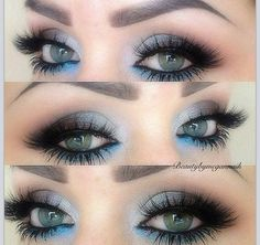 Pretty blue - winter wonderland look