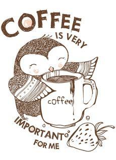 Сова - Магазин футболок miraa Kaffe - sehr sehr wichtig für mich! Coffe - really important to me!