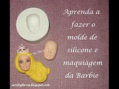Barbie: Aprenda a fazer o molde de silicone para biscuit e maquiagem - YouTube