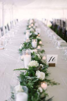 Gorgeous garland: http://www.stylemepretty.com/wisconsin-weddings/madison-wi/2015/03/17/traditionally-elegant-grove-wedding/   Photography: M Three Studio - http://www.mthreestudio.com/