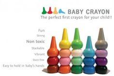 Playon Crayon Primärfarben Wachsmalstifte 12 Stück Stapelbar