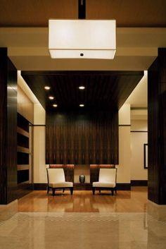 wood ceiling waterfall