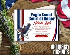 Eagle Scout Court of Honor Invitation: Journey from Tiger