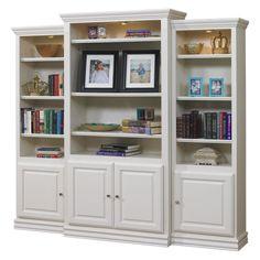 A & E Kamran Wall Bookcase - Pearl White - 600W