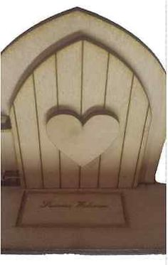 Opening Fairy Door Wooden engraved Fairy Blank Heart base :Fairies Welcome Mat Opening Fairy Doors, Elf Door, Welcome Mats, Fairies, Pixie, Base, Heart, Collection, Home Decor