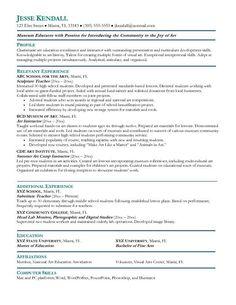 secondary teacher resume example pinterest secondary schools