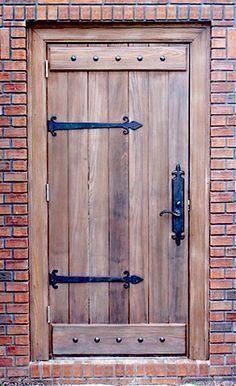 Custom Old World Plank Door With Battens Wood Entry - Doors .- Custom Old World Plank Door With Battens Wood Entry – Doors by Decora Rustic wood door style. Wood Entry Doors, Rustic Doors, Old Wooden Doors, Door Entry, Door Hinges, Entrance Doors, Front Entry, Cool Doors, The Doors