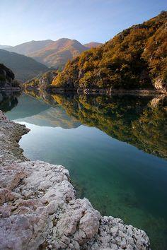 Lake San Domenico, Villalago, Abruzzo, Italy