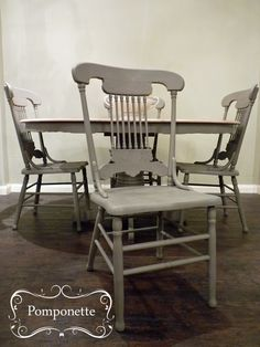 Extendable Dining Table Four Chairs Chalk PaintTM By Annie Sloan Stockists Trainers Unique Vintage Painted Furniture For Sale At Pomponette Leicester