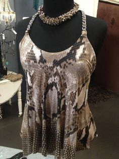 Another Sky Top.... very unique and a must have!!   Necklace also available <3 Lula Blu Melbourne FL