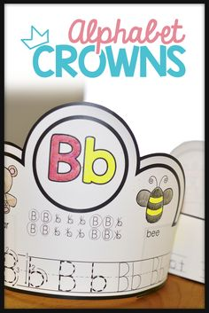 Alphabet Crowns! Use these Alphabet Crowns with your preschool or kindergarten students as you teach each letter or sound of the alphabet!