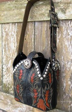 Cowboy boot purses, cowhide and saddle blanket bags, concho jewelry, wallets - Clothing