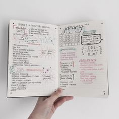 January set up. Nifty journal inspiration.