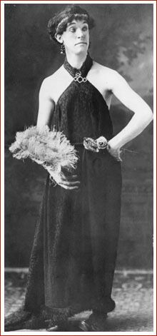 Stan Laurel in drag, on the American Variety Stage