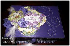 JRC #72 Entry #7 Regina aka Mrs Ham - Altered Wooden Box & Card (box)
