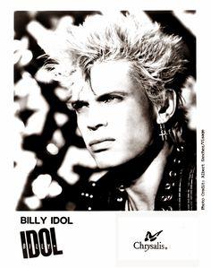 Billy idol Press Kit Photo https://www.facebook.com/FromTheWaybackMachine