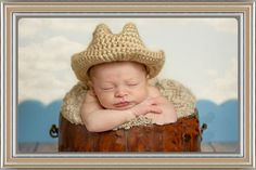 What little boy wouldnt look gorgeous in this hat?!   This cowboy hat is absolutely adorable!!! Made from a beige soft cotton yarn, it is ideal for newborns & young babies alike. It would be a perfect baby shower gift, accessory for newborn photos, or simply as a special adornment for your pre...