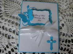 Baptism Card Christening Card Religious Event by CardsbyEileen