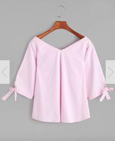 Double V-neck blouse