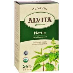 Alvita Teas Organic Herbal Tea Bags - Nettle Leaf - 24 Bags