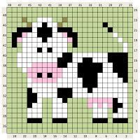 Thrilling Designing Your Own Cross Stitch Embroidery Patterns Ideas. Exhilarating Designing Your Own Cross Stitch Embroidery Patterns Ideas. Graph Crochet, Crochet Cow, Pixel Crochet, Crochet Squares, Crochet Animals, Crochet Patterns, Crochet Borders, Crochet Lace, Cross Stitch Cow