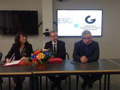 Signature de l'accord de partenariat GEM / Esc-Clermont