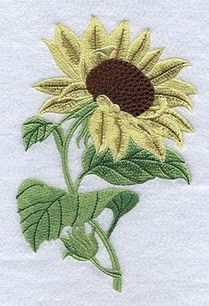 Machine Embroidery Applique, Free Machine Embroidery Designs, Wool Applique, Custom Embroidery, Embroidery Thread, Embroidery Patterns, Disney Drawing Tutorial, Sunflower Quilts, Tambour Beading