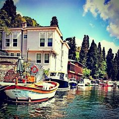 Wooden houses on Bosphorus, Istanbul Turkey
