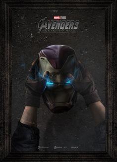 Avengers infinity war captain America iron man halmet poater