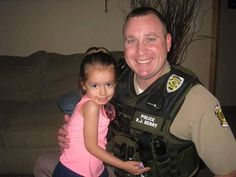 Officer Brad Berry and Police Officer Barbie Making Friends For the Wichita Falls PD.