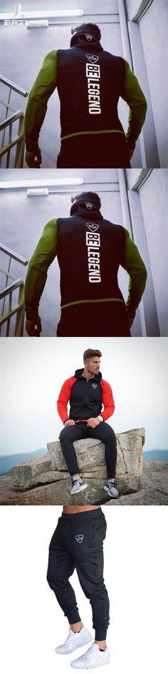 2017 Men gyms Hoodies Brand Clothing Men Hoody Zipper Casual Sweatshirt Muscle Men's Slim Fit Fitness hooded Jackets