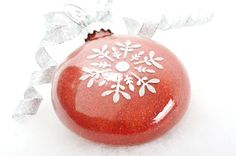 Glittered Ornament using a special glittering glue (try using thinned-out Mod-Podge?).