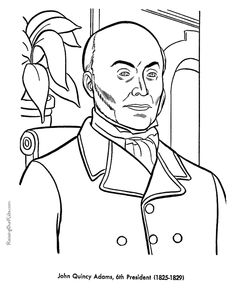 Free Printable President John Quincy Adams Coloring Pages