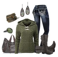 """""""Hoodie Style"""" by smores1165 ❤ liked on Polyvore featuring Francesco Biasia, Report, Susan Hanover and Chan Luu"""