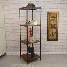 Carolina Finn Brown Wood and Square Bookcase