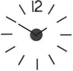 Umbra Blink Wall Clock Black - Easy to Paste Wall Sticker Numbers, Frameless Large Decorative Wall Clock, Simple Indicators, Minimalist, Inch L x Inch W x Inch H Wall Clock Kits, 3d Wall Clock, Diy Clock, Wall Stickers Numbers, Wall Clock Walmart, Quartz Clock Movements, La Pile, Quartz Clock Mechanism, Diy Wall Decor