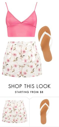 """""""Untitled #260"""" by kenzie-raye13 on Polyvore featuring RED Valentino, Charlotte Russe, Pink and spring2016"""