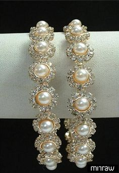 Beautiful white pearl bangles