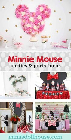 Celebrate your birthday with a some adorable Minnie Mouse ideas! Does your little sweetheart love Minnie Mouse? Minnie Mouse Party Decorations, Minnie Mouse Theme Party, Mickey Mouse Clubhouse Birthday Party, Mickey Mouse Parties, Disney Parties, Girls Birthday Party Themes, Fun Party Themes, Birthday Parties, Girl Parties