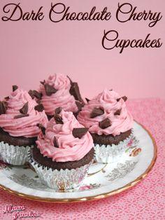 Dark Chocolate Cherry Cupcake-Muffins