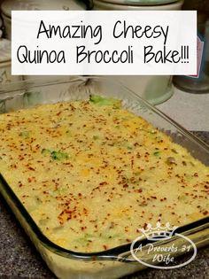 Cheesy Quinoa Broccoli Bake Recipe