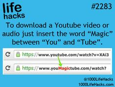 1000 life hacks is here to help you with the simple problems in life. Posting Life hacks daily to help you get through life slightly easier than the rest! Youtube Hacks, To Youtube, Simple Life Hacks, Useful Life Hacks, Life Hacks Websites, 1000 Lifehacks, Whatsapp Tricks, Audio, Tech Hacks