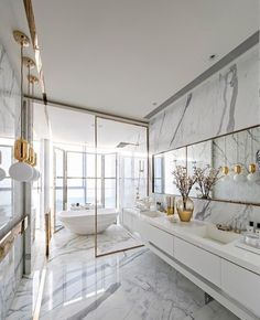 The 5 Best Interior Designers of The World! - The 5 Best Interior Designers of The World! Decor your home with DelightFULL´s mid-century moder - Bathroom Interior Design, Modern Interior Design, Interior Architecture, Marble Interior, Interior Ideas, Gold Interior, Modern Living Room Design, 2018 Interior Design Trends, White House Interior