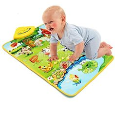 Farm Animal Carpet Music Sound Singing Kids Baby Children Play Mat Gym Toy >>> Check this awesome product by going to the link at the image.